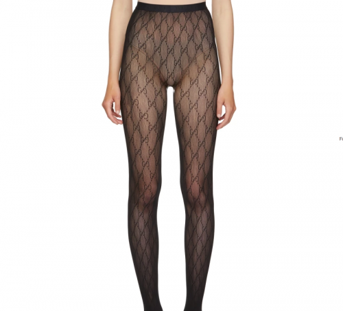 GUCCI Black GG Supreme Tights