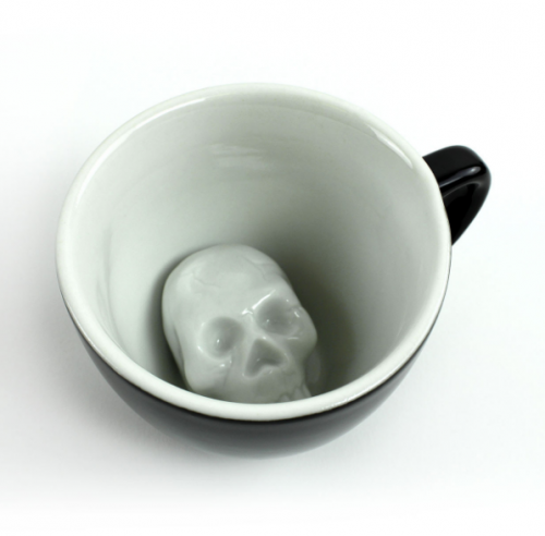 Cool and Creepy Skull Coffee Cup