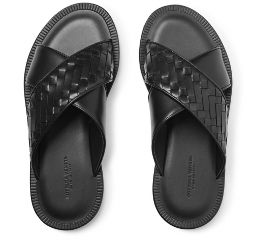 Summer Sexy BOTTEGA VENETA Intrecciato Men Sandals