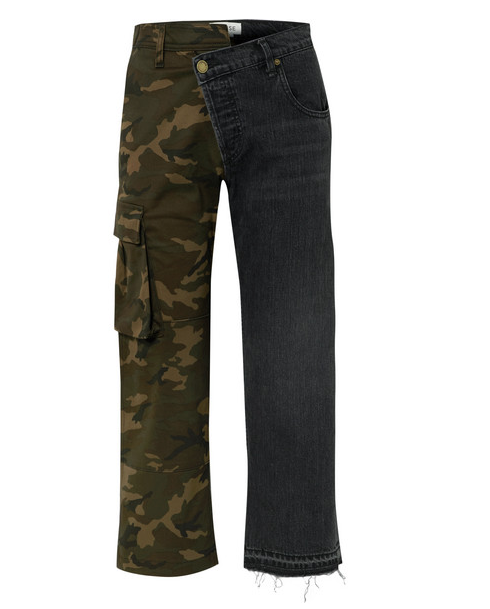 MONSE Camo & Denim panel jeans