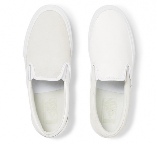 VANS & ENGINEERED GARMENTS OG Classic LX Leather and Suede Slip-On