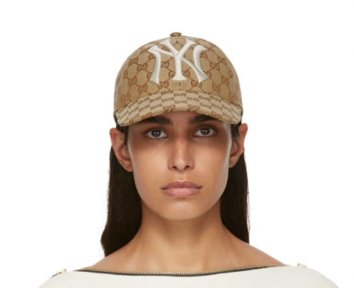 GUCCI New York Yankees Edition GG Supreme Patch Cap