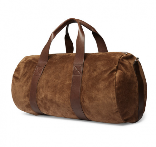 BRUNELLO CUCINELLI Suede And Leather Holdall