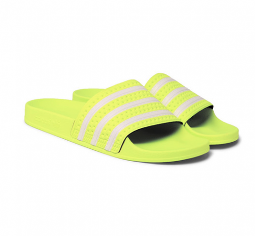 ADIDAS ORIGINALS Neon Yellow Adilette Slides