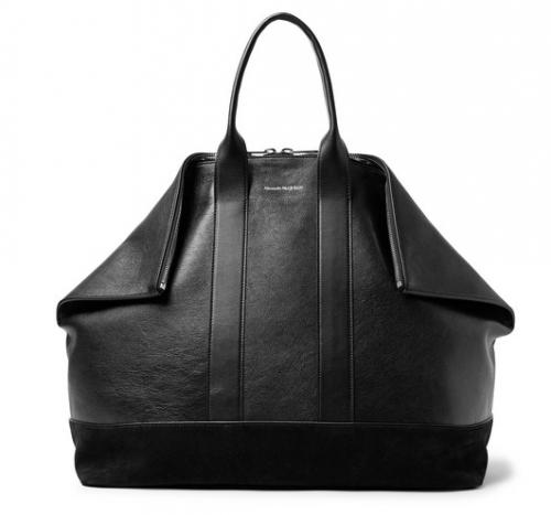 ALEXANDER MCQUEEN De Manta Leather And Suede Tote Bag
