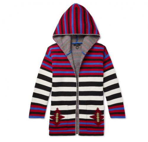 ALANUI Wool Jacquard Hooded Cardigan