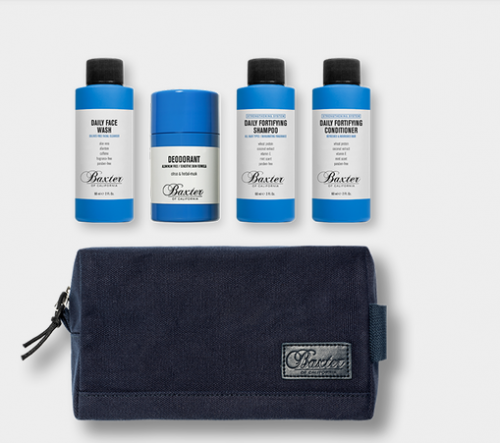BAXTER OF CALIFORNIA: EXCLUSIVE TRAVEL GROOMING BUNDLE