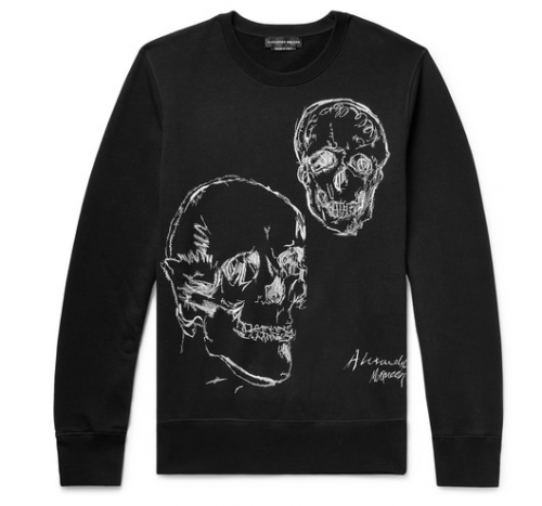 ALEXANDER MCQUEEN Embroidered Skull Sweatshirt