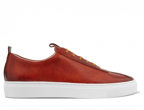 GRENSON Hand Painted Leather Sneakers