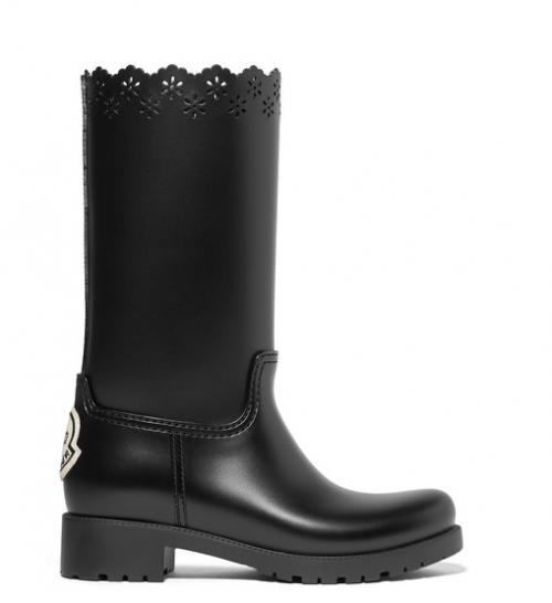 Simone Rochas X MONCLER laser cut rubber boots