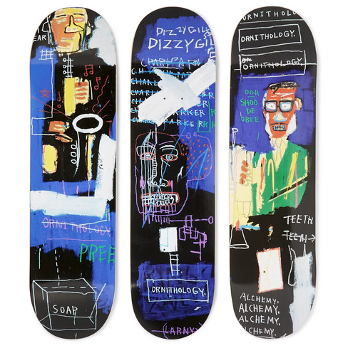 Basquiat Horn Players Triptych Skateboards