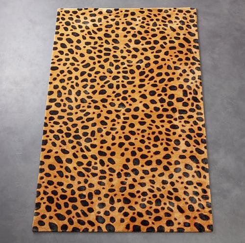 CB2 Mara cheetah rug