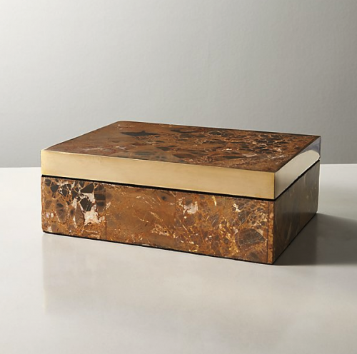 CB2 Exclusive Stone Box