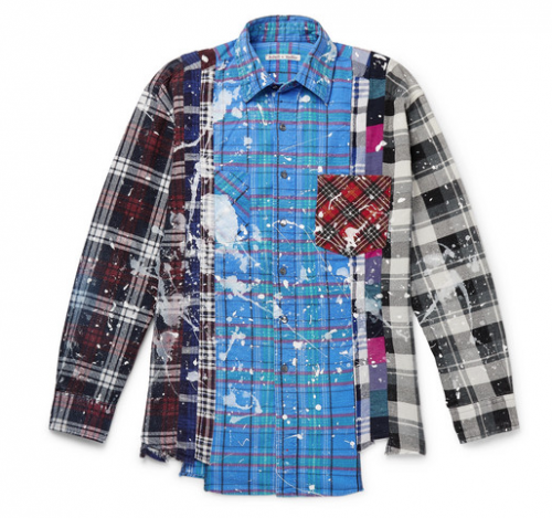Mr PORTER X NEEDLES Paint Splattered Checked Flannel Shirt